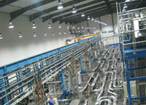 The conveyor system provides challenges for conventional access