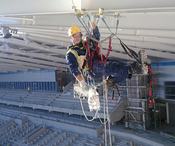 Repairs and maintenance in a stadium